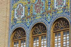 TEHERAN IRAN, PAŹDZIERNIK, - 05, 2016: Powierzchowność Golestan pałac Obrazy Royalty Free
