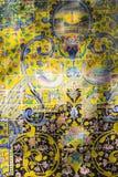 TEHERAN IRAN, PAŹDZIERNIK, - 05, 2016: Stara mozaiki ściana w Golestan pa Obrazy Stock