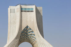 TEHERAN IRAN, PAŹDZIERNIK, - 04, 2016: Widok Azadi wierza w Tehr Fotografia Royalty Free