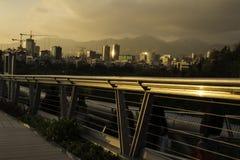 Teheran linia horyzontu przy zmierzchu ab parka punktem widzenia Zdjęcie Royalty Free