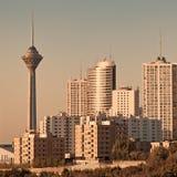 Teheran linia horyzontu w zmierzchu Obraz Royalty Free