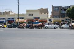 Teheran mattbasar Arkivfoton