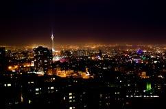 Teheran natt royaltyfria foton