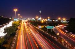 Teheran natt arkivbild