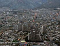 Teheran, Nord, errichtend, Stadt Der Iran, Sonnenuntergang Stockbild