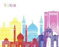 Teheran-Skylineknall Stockfoto