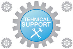 Tehnical support. Illustration tehnical support on white background Stock Images