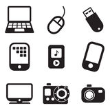 Tehnology Icons Stock Photography