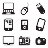 Tehnology-Ikonen Stockfotografie