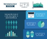 Tehnology infographic concept Stock Photography
