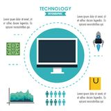 Tehnology infographic concept Stock Images