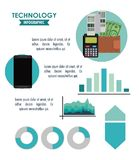 Tehnology infographic concept Royalty Free Stock Images