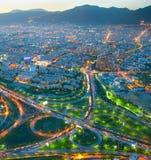Tehran aerial view, Iran royalty free stock photography