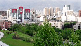 Tehran city. Northern area of Tehran city Royalty Free Stock Image