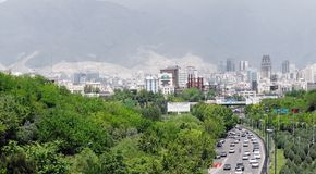 Tehran city Royalty Free Stock Images