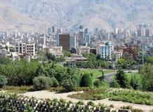 Tehran city. Northern area of Tehran city royalty free stock photo