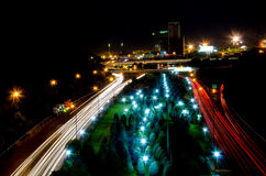 Tehran cityscape. Night view of Tehran Stock Photography