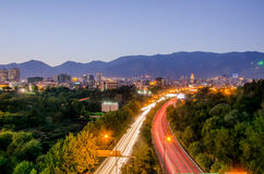 Tehran cityscape. Night view of Tehran Royalty Free Stock Photo