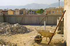 Tehran construction site, Iran Stock Photo