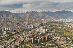 Tehran, Iran. Tehran from above captured from Milad tower in Iran Stock Photo