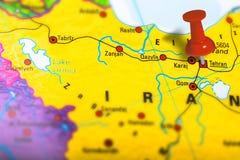 Tehran Iran map Stock Images