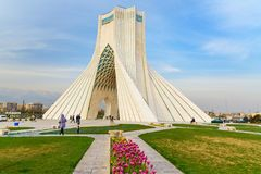 Azadi Tower in Tehran. Iran. Tehran, Iran - March 19, 2018: Azadi Tower is monument at Azadi Square stock photo