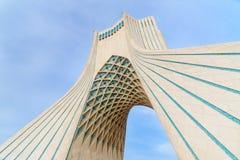 Azadi Tower in Tehran. Iran. Tehran, Iran - March 19, 2018: Azadi Tower is monument at Azadi Square royalty free stock photo
