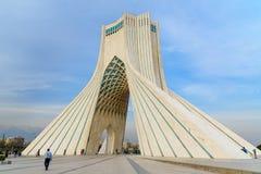 Azadi Tower in Tehran. Iran. Tehran, Iran - March 19, 2018: Azadi Tower is monument at Azadi Square royalty free stock photos