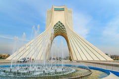 Azadi Tower in Tehran. Iran. Tehran, Iran - March 19, 2018: Azadi Tower is monument at Azadi Square royalty free stock images