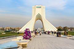 Azadi Tower in Tehran. Iran. Tehran, Iran - March 19, 2018: Azadi Tower is monument at Azadi Square stock image