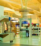 Duty free shop Tehran airport stock photos