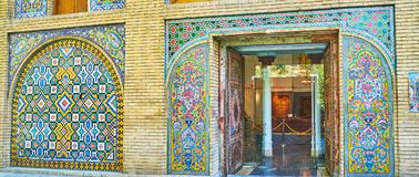 Facade of Chador-Khaneh in Golestan, Tehran Royalty Free Stock Photos