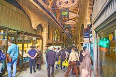 Shopping in Bazar-e-Bozorg of Tehran Stock Images