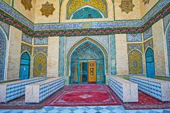 Main entrance of Shah`s Mosque in Tehran Stock Photo