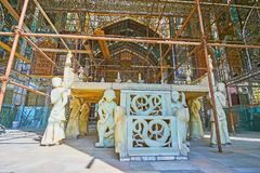 Persian marble throne in Golestan, Tehran Royalty Free Stock Photography