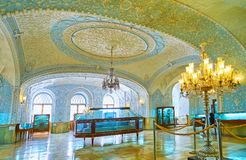 Panorama of Special Museum of Golestan Palace, Tehran. TEHRAN, IRAN - OCTOBER 11, 2017: Panorama of Muz-e Makhsus Special Museum, also named as Museum of Gifts stock photography