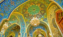 Patterns of Shah`s Mosque in Tehran Royalty Free Stock Images