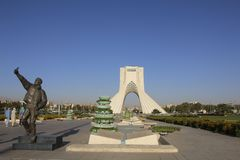 TEHRAN, IRAN - SEPTEMBER 17, 2018: Azadi Tower known as the Shah stock images