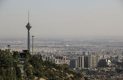 TEHRAN, IRAN- SEPTEMBER 17, 2018: Milad Tower with panoramic vie stock images