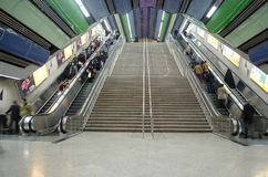 Tehran Metro Station. Stairs in Tehran Underground Metro Subway Station Royalty Free Stock Photography