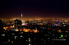 Tehran Night. Tehran City landscape at night Royalty Free Stock Photos