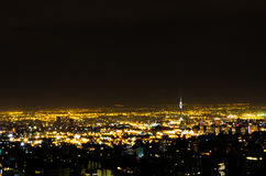 Tehran Night. Tehran City landscape at night Royalty Free Stock Photography