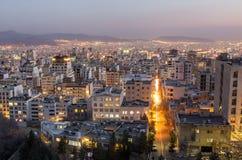 Tehran at night, Tehran Royalty Free Stock Photo