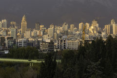 Tehran Northern Part Skyline Modern Architectural Buildings Stock Images