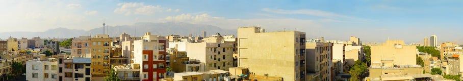 Tehran panorama at sunset. Iran Royalty Free Stock Photography