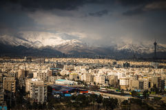 Tehran skyline of the city royalty free stock photos