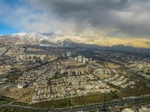Tehran skyline seen from Milad Tower, also known as Tehran Tower, in Iran stock image