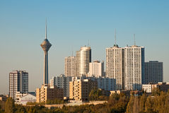 Tehran Skyline and Skyscrapers in the Morning Light Royalty Free Stock Photos