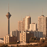 Tehran Skyline in the Sunset Royalty Free Stock Image