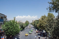 Tehran streets. Tehran downtown streets near grand bazaar Stock Images